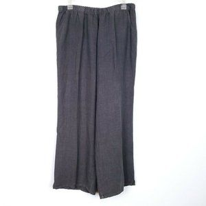 MATCH POINT linen gray pull on pants full length